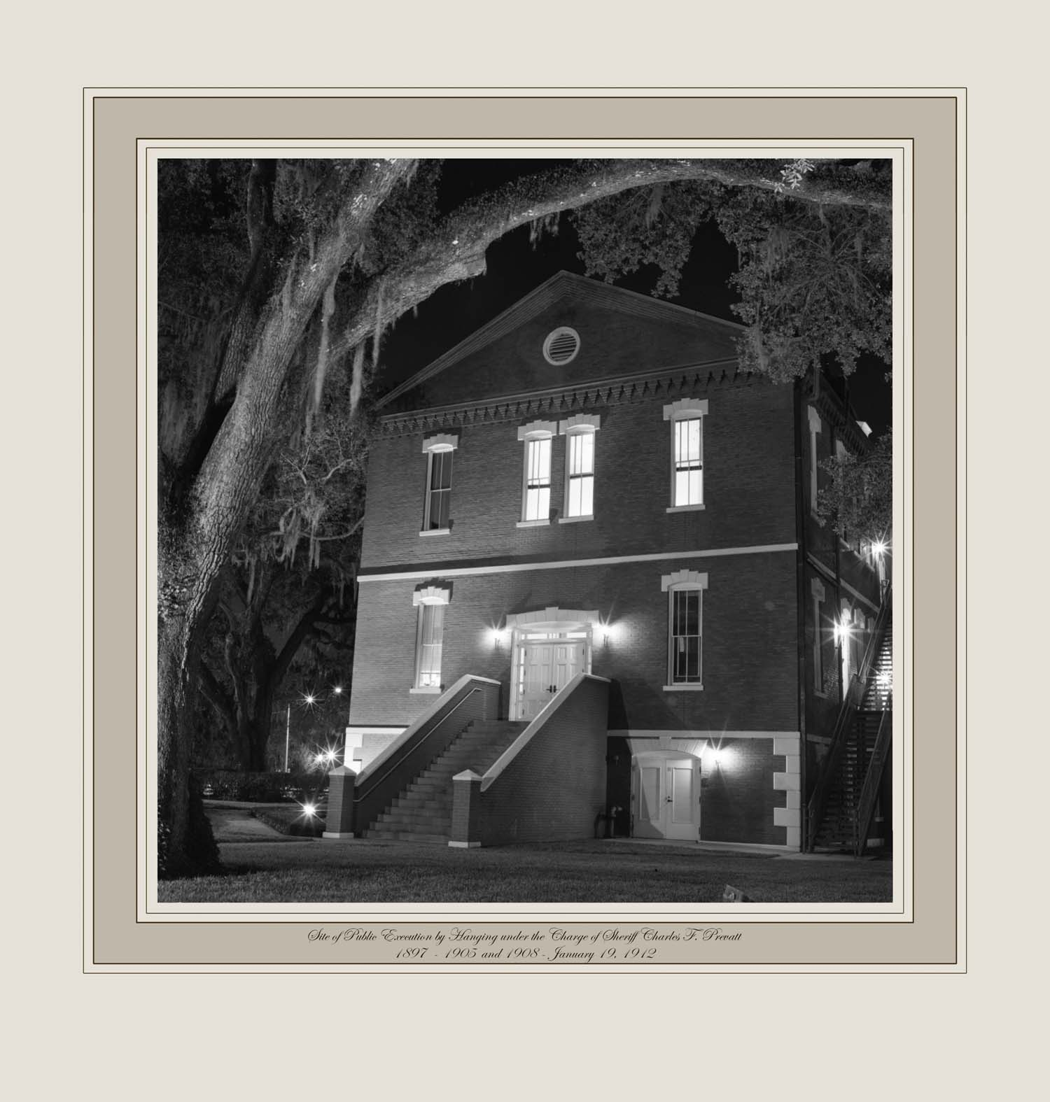 Site of Public Execution by Hanging under the Charge of Sheriff Charles F. Prevatt, 1897  - 1905 and 1908 - January 19, 1912 (Osceola Courthouse, Kissimmee, Florida)