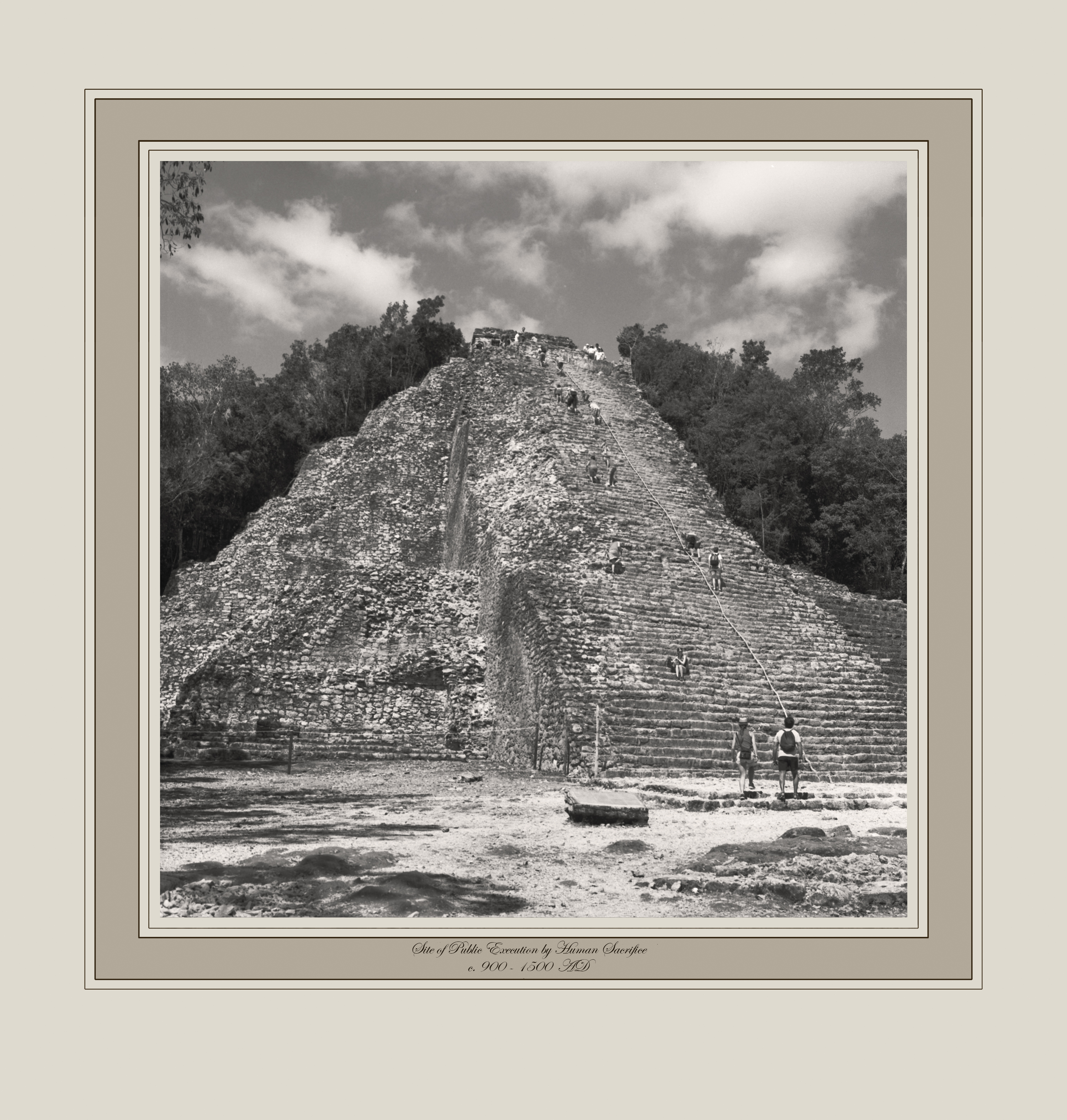 Site of Public Executions by Human Sacrifice c. 900-1500 AD (Nohuch Mul Pyramid, Coba, Mexico)