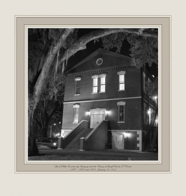Site of Public Execution by Hanging under the Charge of Sheriff Charles F. Prevatt, sheriff, 1897 - 1905 and 1908 - January 19, 1912 (Osceola Courthouse, Kissimmee, Florida)