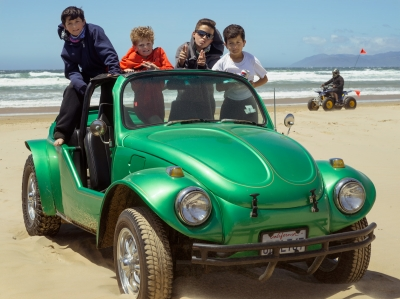 Kids with Dune Buggy