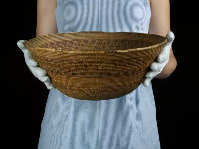 Chumash Basket at the Mission Museum, San Luis Obispo, CA