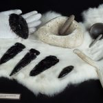 Chumash Arrowheads at Mission Museum, San Luis Obispo