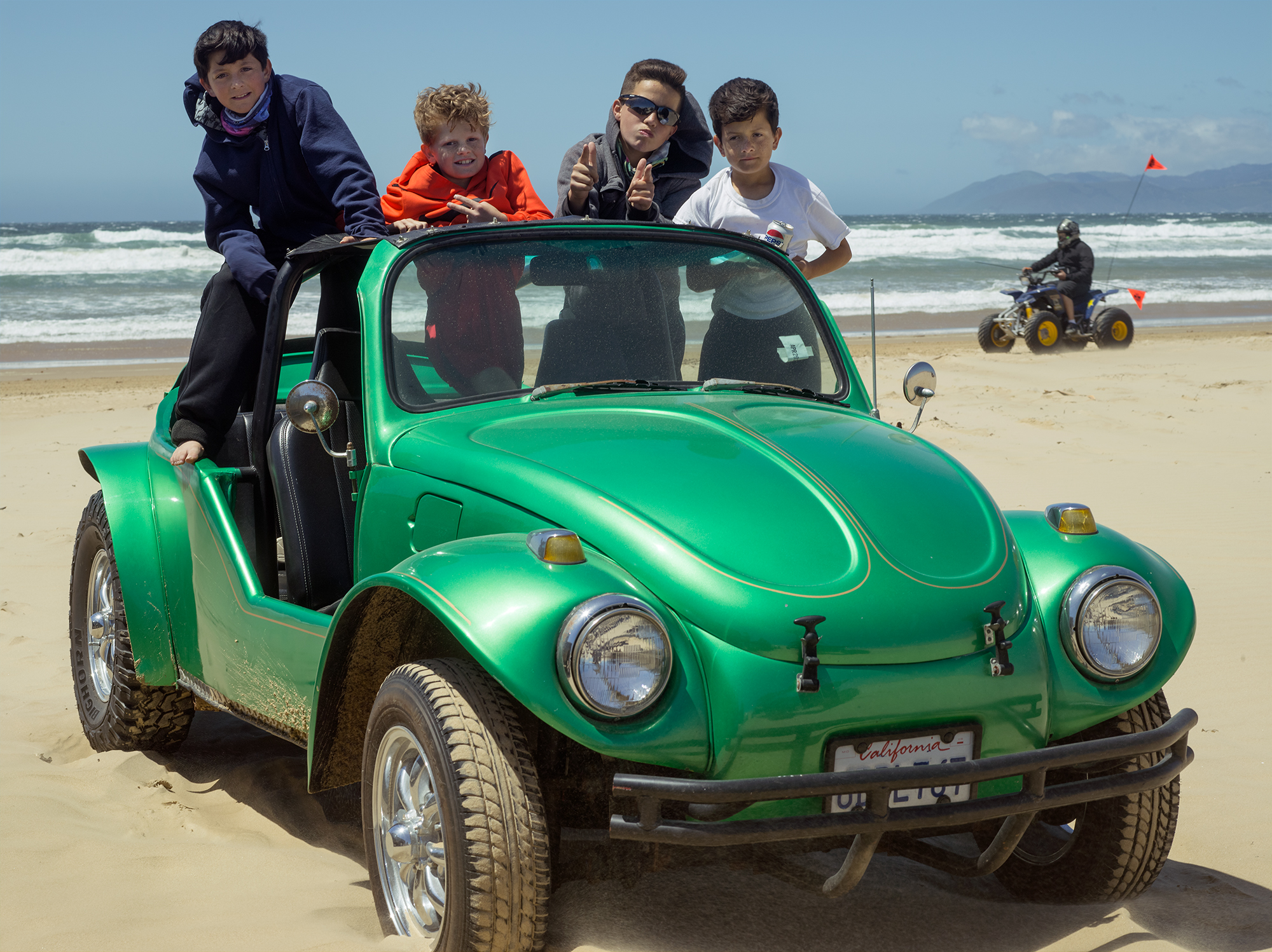 "Kids on Dune Buggy, 20"" x 15"", Archival Pigment Print, 2018"