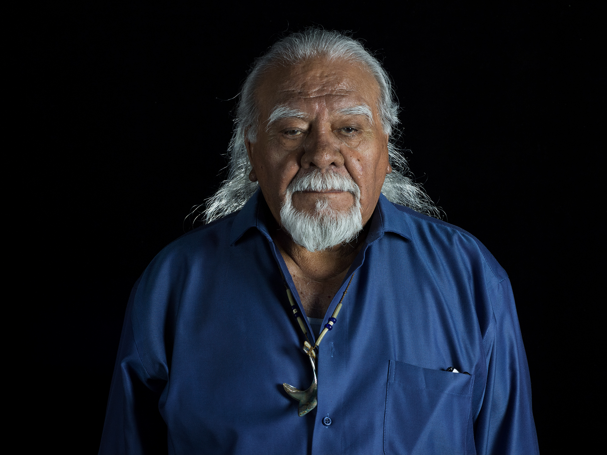 Chumash Elder Joe Talaugon at Guadalupe Cultural Center