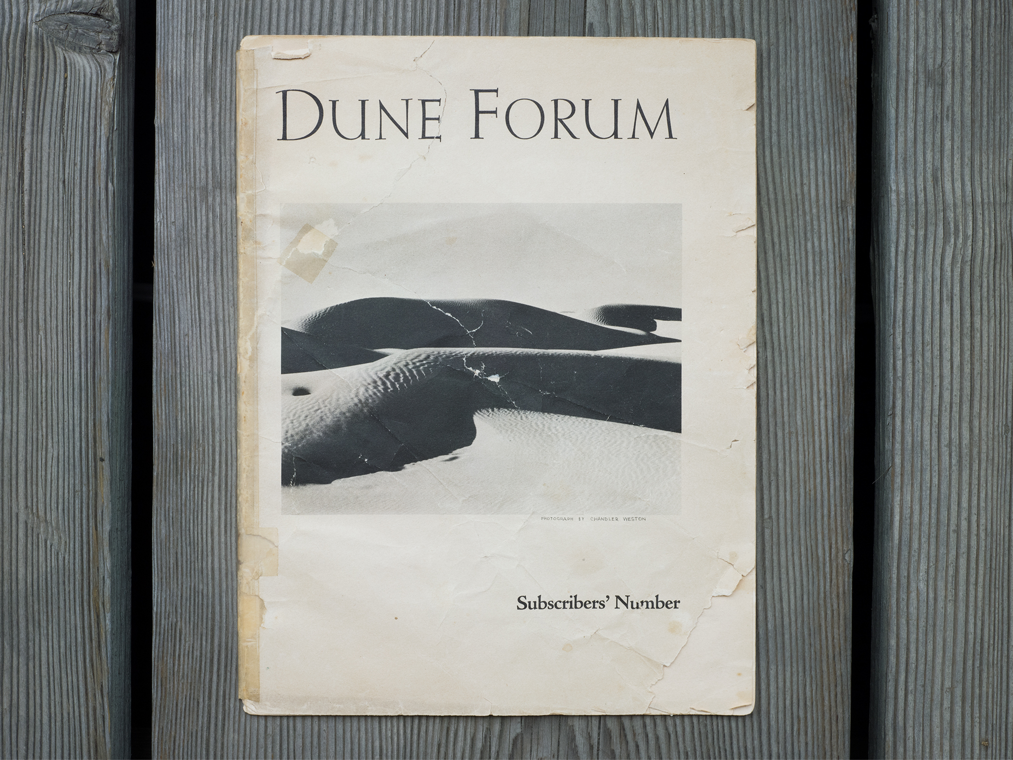 "First Issue of Dune Forum at the Oceano Depot, Oceano, CA, 20"" x 15"", Archival Pigment Print, 2018"
