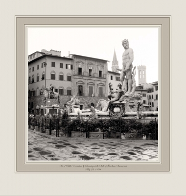 Site of Public Execution by Burning at the Stake of Girolamo Savonarola May 23, 1498 (Piazza della Signoria, Florence)