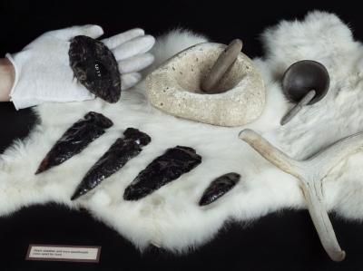Chumash Arrowheads at the Mission Museum, San Luis Obispo, CA