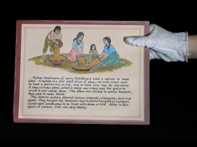 Placard at the Mission Museum, San Luis Obispo, CA